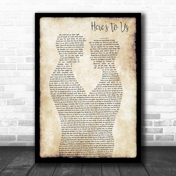 Halestorm Here's To Us Gay Couple Two Men Dancing Song Lyric Print