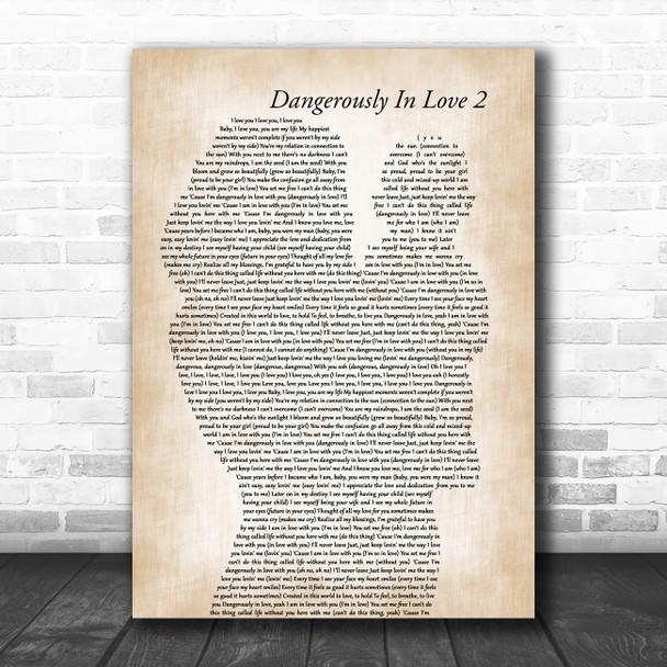 Beyoncé Dangerously In Love 2 Mother & Baby Song Lyric Art Print
