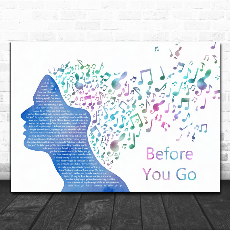 Lewis Capaldi Before You Go Colourful Music Note Hair Song Lyric Quote Music Print