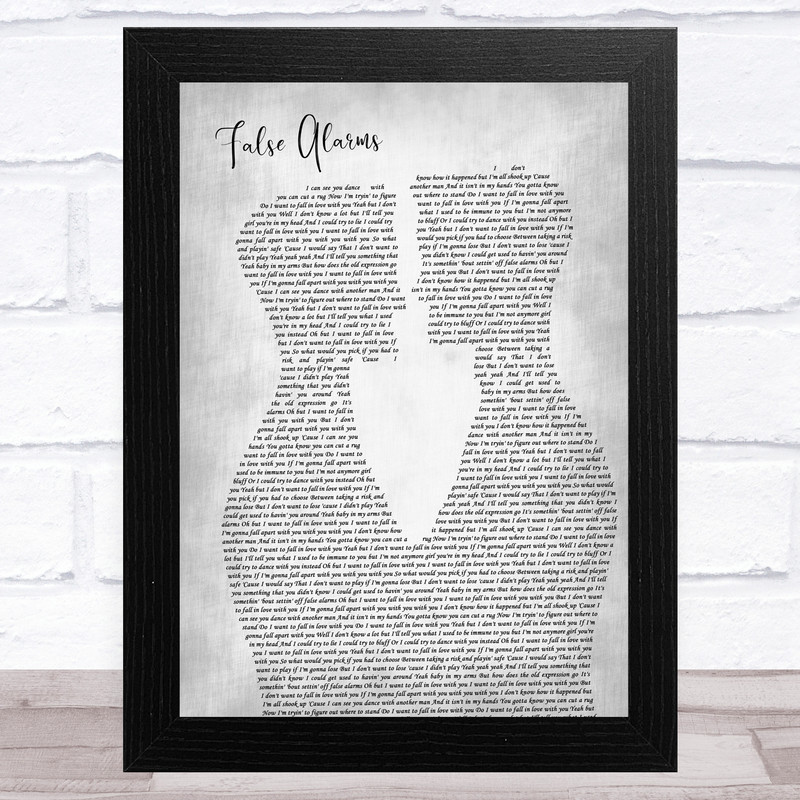 Noah Reid False Alarms Two Men Gay Couple Wedding Grey Song Lyric Art Print