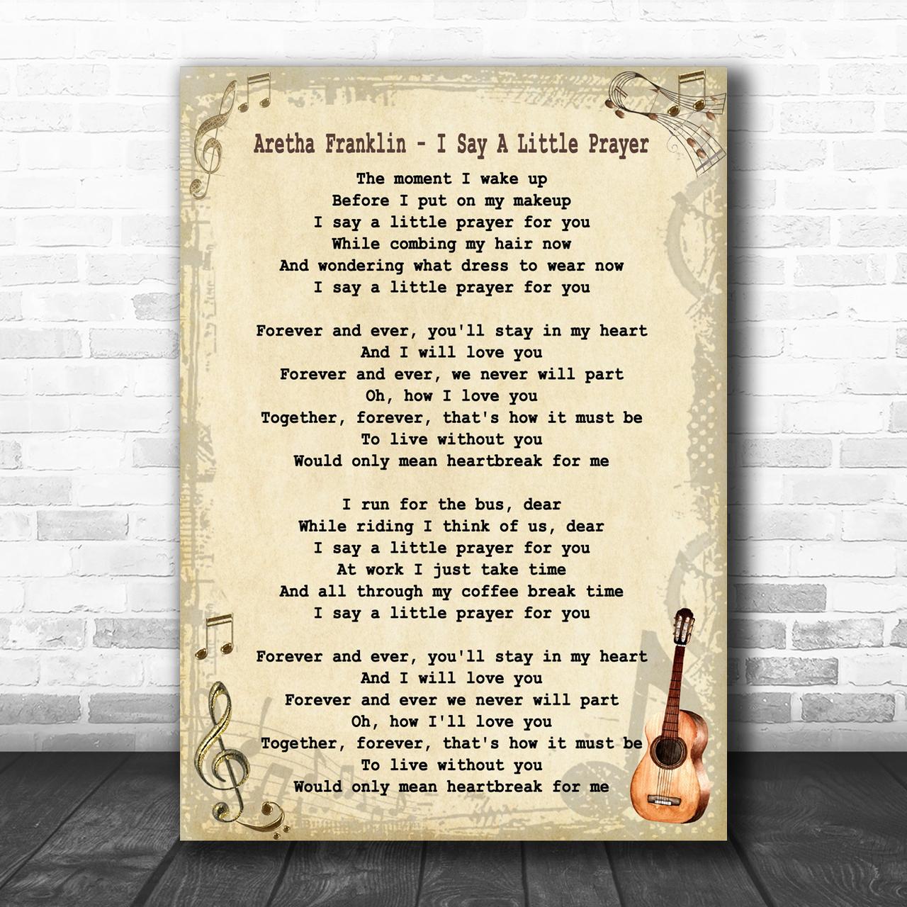 ARETHA FRANKLIN I SAY A LITTLE PRAYER R/&B SOUL SINGER TOTE BAG LIFE SHOPPER