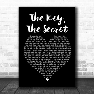 Urban Cookie Collective The Key The Secret Black Heart Song Lyric Music Wall Art Print Song Lyric Designs