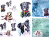 1 Sheet A4  Rice Paper for Decoupage Craft Vintage    -   Dogs World