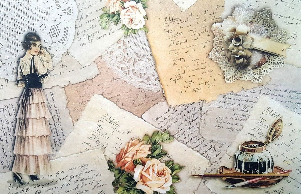 Hand Writing White Rice Paper for Decoupage Scrapbook Craft Sheet
