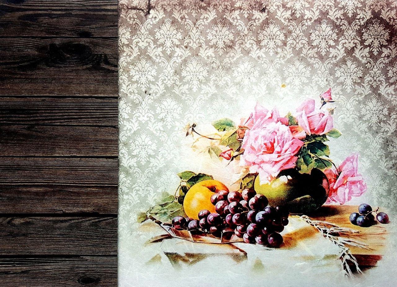 Scrapbooking Craft Rice Paper for Decoupage  A3 Sheet Flowers Around