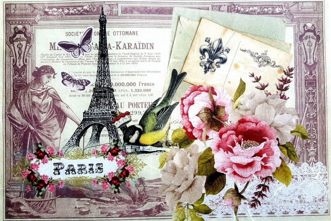 PARI 1// CRAFT PAPER RICE DECOUPAGE PAPER DECOUPAGE SHEETS SCRAPBOOKING