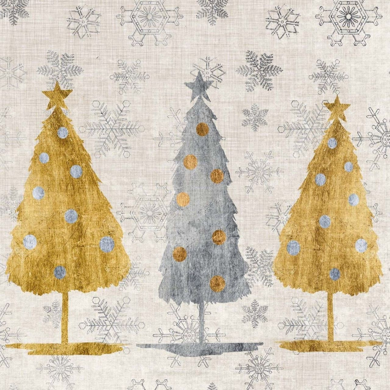 4 Lunch Paper Napkins for Decoupage Party Table Craft Vintage Christmas Ball