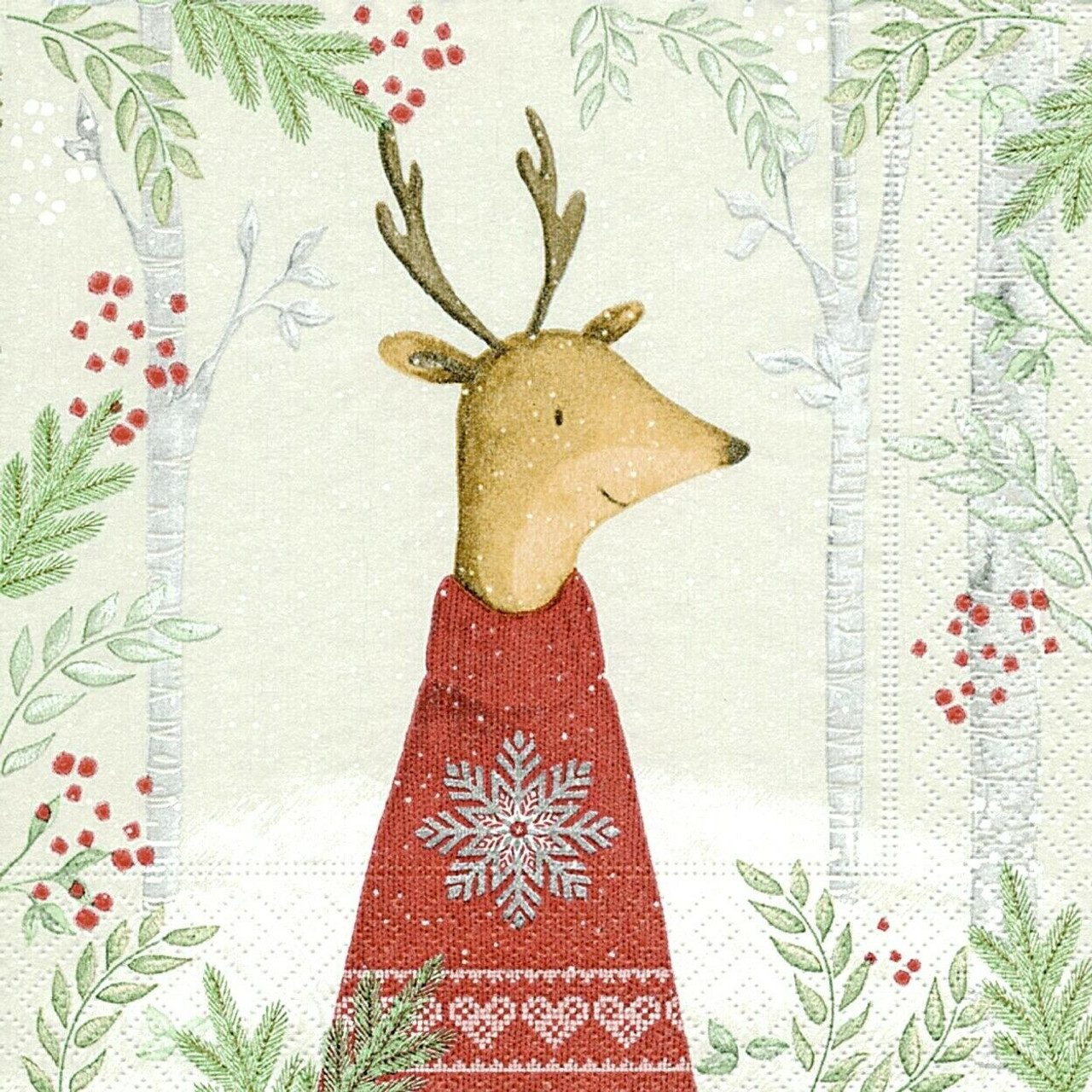 4 Lunch Paper Napkins for Decoupage Party Table Craft Vintage Little  Deers