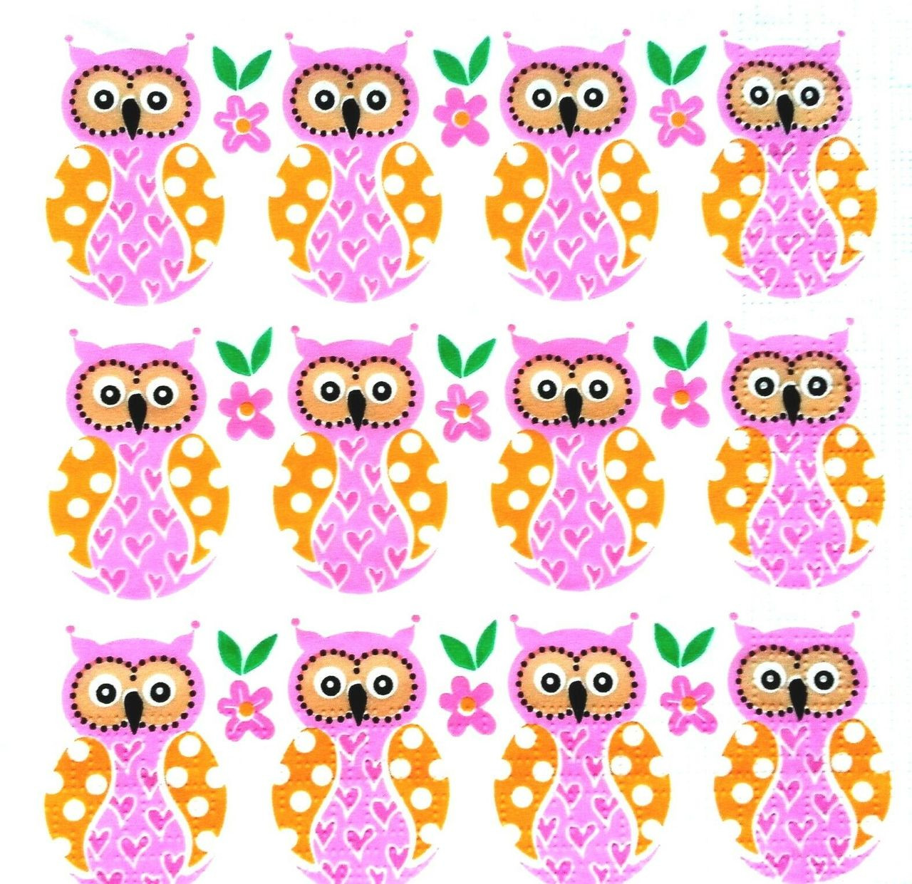Decoupage Tissue Paper 4 X Single Table Paper Napkins Craft Party For Decoupage Little Owls Art Craft Supplies Tallergrafico Com Uy