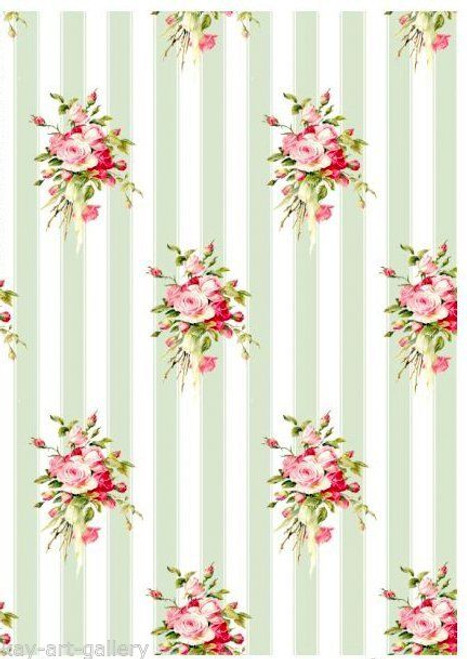 1  Sheet  of Rice Paper for Decoupage Craft Vintage  -  Vintage Roses