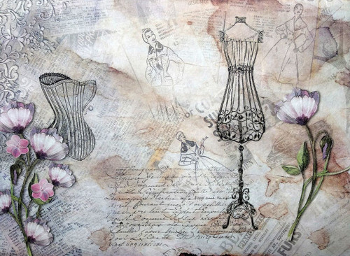1  Sheet  of Rice Paper for Decoupage Craft Vintage  -   Vintage Fashion 1