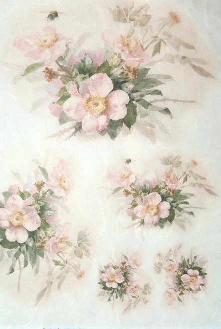 1  Sheet  of Rice Paper for Decoupage Craft Vintage  -  Magic Flowers 1