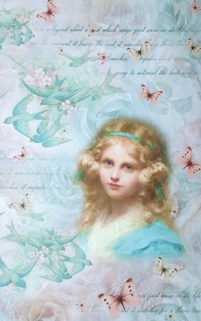 1  Sheet  of Rice Paper for Decoupage Craft Vintage  -    Little Girl 1