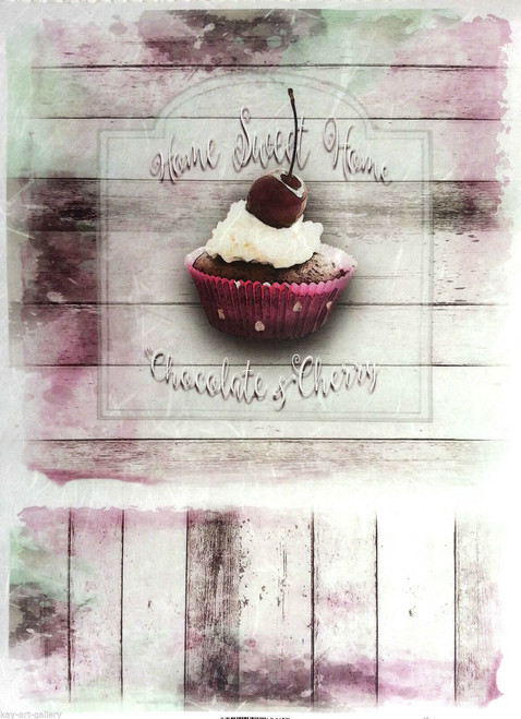 1  Sheet  of Rice Paper for Decoupage Craft Vintage   -   Muffin Picture