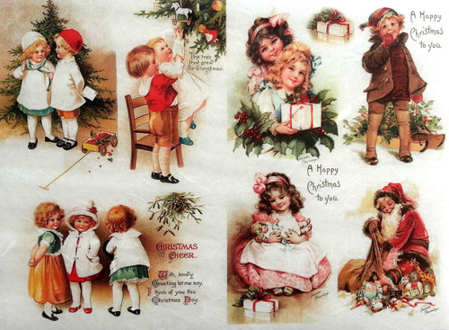 1  Sheet  of Rice Paper for Decoupage Craft Vintage   -   Vintage Child  2