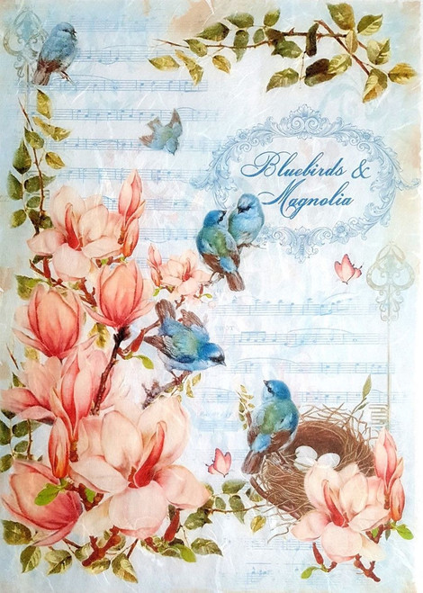 1  Sheet  of Rice Paper for Decoupage Craft Vintage   - Sweet Romantic 2
