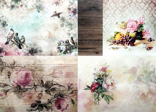 Rice Paper for Decoupage Craft Vintage,1  Sheet A4 -  Vintage Collage 1