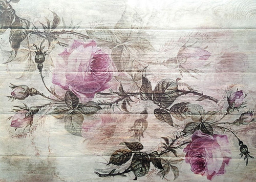 1  Sheet  of Rice Paper for Decoupage Craft Vintage    - Roses on the Board