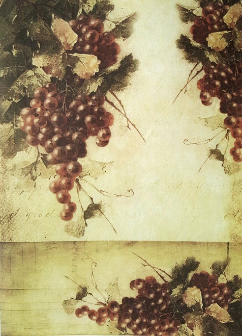 1  Sheet  of Rice Paper for Decoupage Craft Vintage    -  Bunch of Grapes