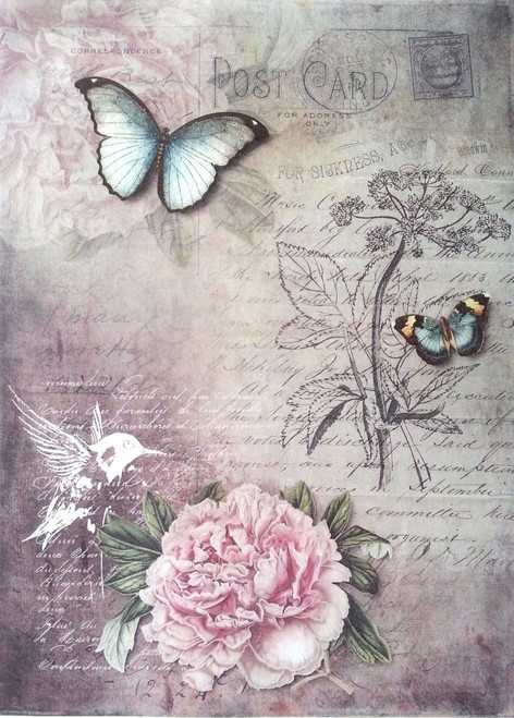 1  Sheet  of Rice Paper for Decoupage Craft Vintage    -   Magic Garden 2