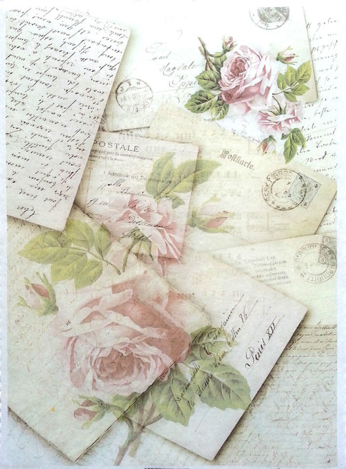 1  Sheet  of Rice Paper for Decoupage Craft Vintage    - Vintage post cards