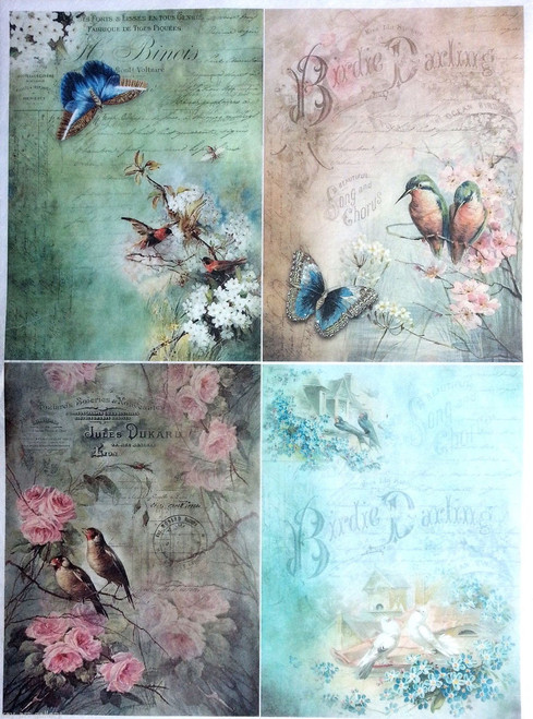 1  Sheet  of Rice Paper for Decoupage Craft Vintage    -  Vintage Collage Mix