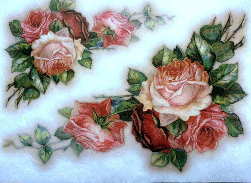 1  Sheet  of Rice Paper for Decoupage Craft Vintage    -   Vintage Roses 4