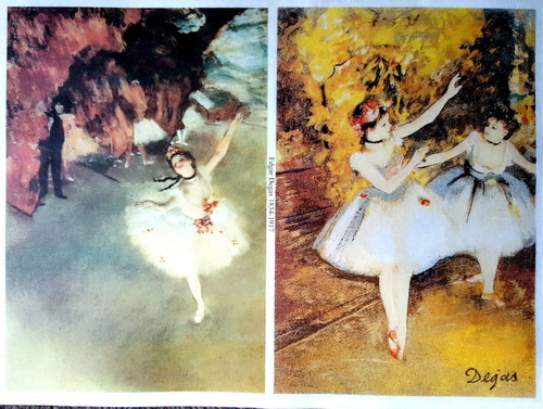 1 Sheet A4  Rice Paper for Decoupage Craft Vintage - Ballerina