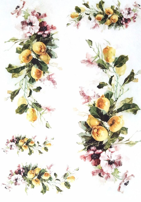 1 Sheet A4  Rice Paper for Decoupage Craft Vintage  - Garden Flowers 1/1