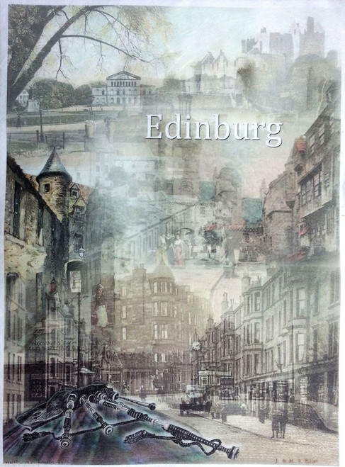 1 Sheet A4  Rice Paper for Decoupage Craft Vintage  -  Edinburgh