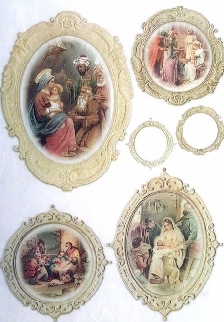 1 Sheet A4  Rice Paper for Decoupage Craft Vintage  -  Holy Family