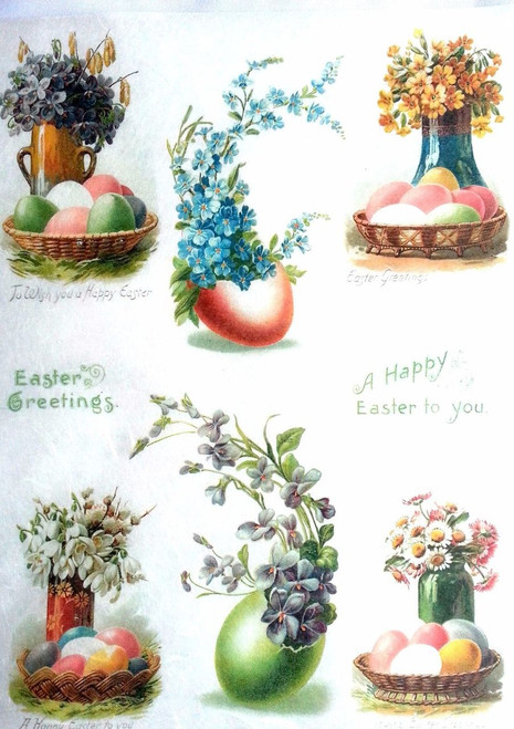1 Sheet A4  Rice Paper for Decoupage Craft Vintage  - Easter Day Chick Art