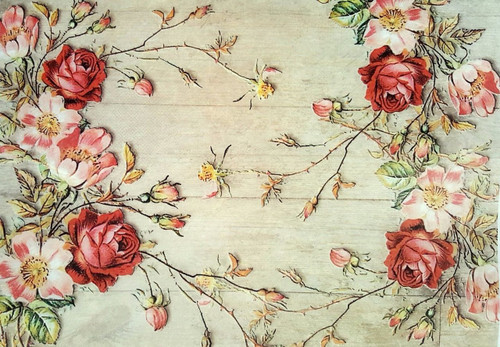 1 Sheet A4  Rice Paper for Decoupage Craft Vintage   - Autumn Roses