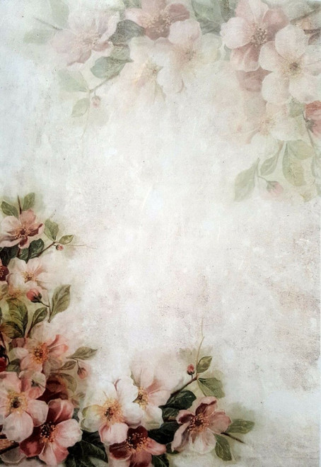 1 Sheet A4  Rice Paper for Decoupage Craft Vintage   -   Art Flowers