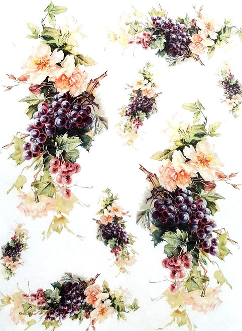1 Sheet A4  Rice Paper for Decoupage Craft Vintage     -   Garden Flowers Beauty 1