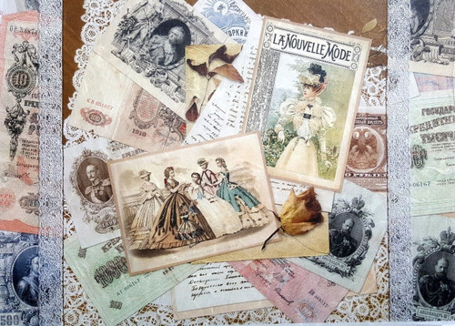 1 Sheet A4  Rice Paper for Decoupage Craft Vintage    -   Old Photos