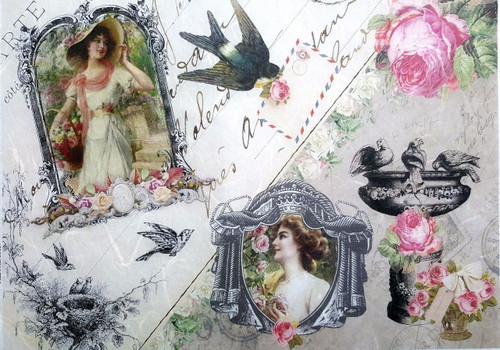 1 Sheet A4  Rice Paper for Decoupage Craft Vintage    -    Old Photos Atelier