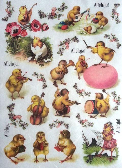 1 Sheet A4  Rice Paper for Decoupage Craft Vintage    -   Easter Photos 1