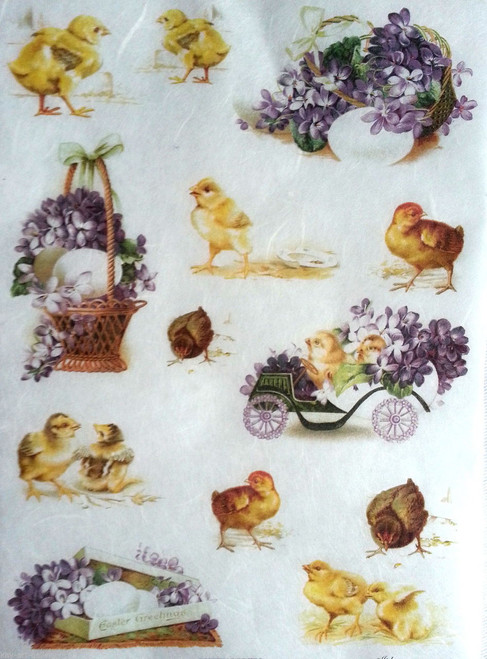 1 Sheet A4  Rice Paper for Decoupage Craft Vintage    -   Easter Picture 2
