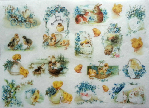 1 Sheet A4  Rice Paper for Decoupage Craft Vintage    -  Easter Picture 4