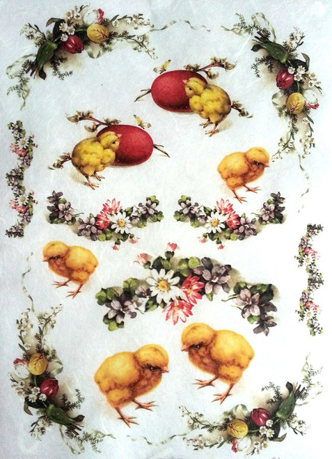 1 Sheet A4  Rice Paper for Decoupage Craft Vintage    -    Easter Picture 5