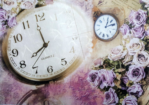 1 Sheet A4  Rice Paper for Decoupage Craft Vintage    -  Vintage Clocks
