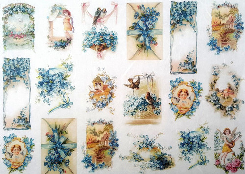 1 Sheet A4  Rice Paper for Decoupage Craft Vintage    -  Easter Ornaments