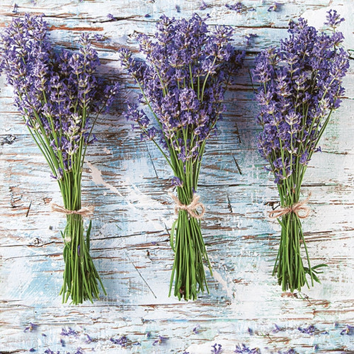4 Single Lunch Paper Napkins - Three Lavender
