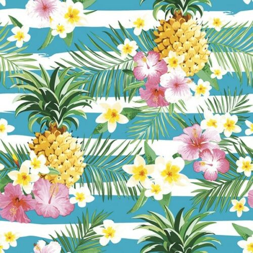 4  Vintage Paper Napkins , Lunch, Table , for Decoupage    -  Tropical Flowers