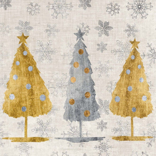 4 Lunch Paper Napkins for Decoupage Craft Vintage Napkin Christmas Tree