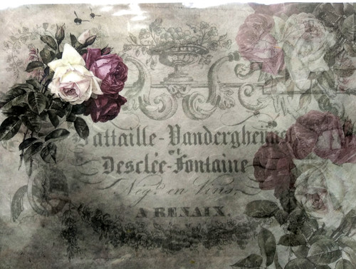 1 Sheet A4  Rice Paper for Decoupage Craft Vintage -   Roses Picture