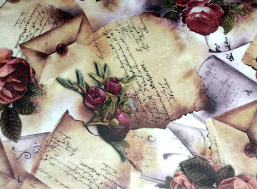 1 Sheet A4  Rice Paper for Decoupage Craft Vintage -   Roses Picture 1