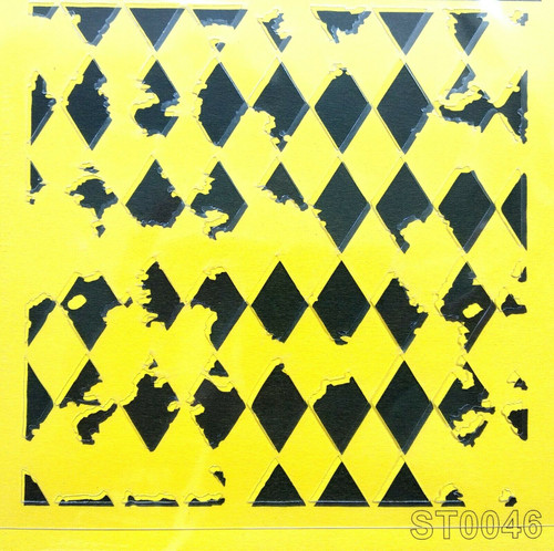 Stencil 16cm x16cm , for Decoupage, Scrapbooking, Decorating , PVC free - ST0046