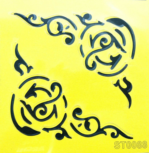 Stencil 16cm x16cm , for Decoupage, Scrapbooking, Decorating , PVC free - ST0088